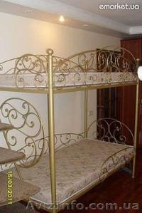 Двухярусная кованая кровать авторской ручной работы - Изображение #1, Объявление #367105