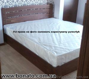 Деревянная кровать с подъёмным механизмом + матрас (кокос и отдельные пружины) - Изображение #1, Объявление #1446738