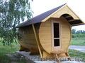 Сауна,  баня,  бочка, Интересная  и не дорогая конструкция сауны в виде деревянной