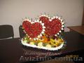 Свадебные фруктово-конфетные композиции с элементами карвинга