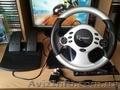 Продам игровой руль с педалями(4-в-1).Новый.400 грн.Торг.(096)3523113 .Ирина.